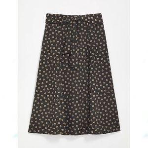 NWT LOFT Tie Waist Midi Skirt Foulard Floral 4